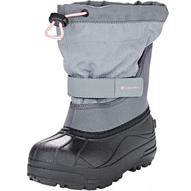 Columbia Powderbug Plus II Boots Kids, grey ash/rosewater